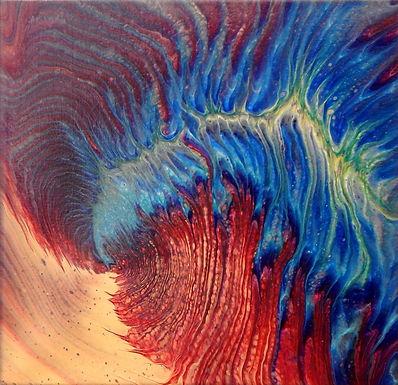 Paint Pour #25 by Jane Yates