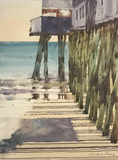 Pier at Orchard Beach, Maine by Michelle Clamp - Honorable Mention