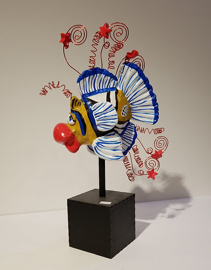 Judy Freeman fish sculpture