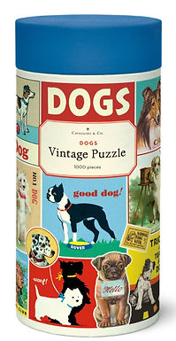 Cavallini & Co Vintage Dogs 1000 pc Puzzle