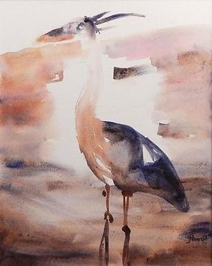 Cocoa Beach Heron by Pamela Malcuit
