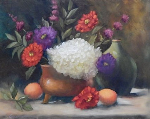 Fruit and Flowers by Anne Hunter