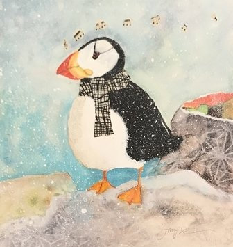 Puffin by Jodie Apeseche - Giclee
