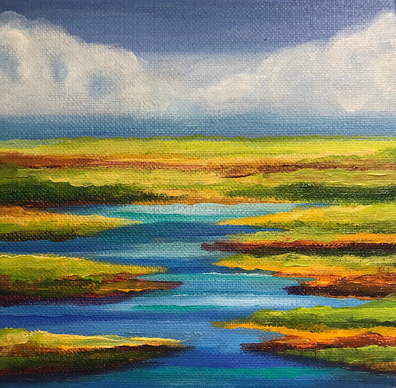 Meandering River #2 by Sue Carlin