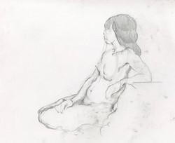 Life drawing by Celia Feldberg