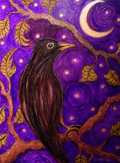 Moonlight Black Bird by Sue Carlin