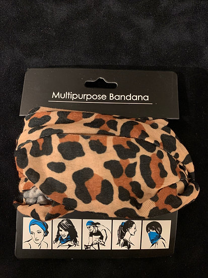 Multipurpose Headband Leopard