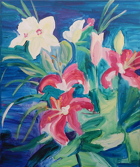 Sandy's Lilies by Pam Malcuit