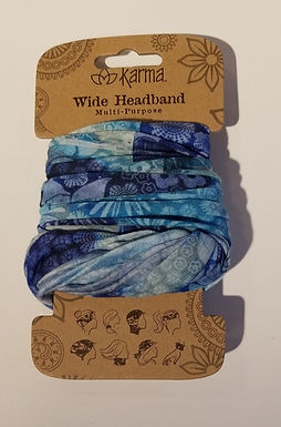 Karma Wide Headband - Cornflower