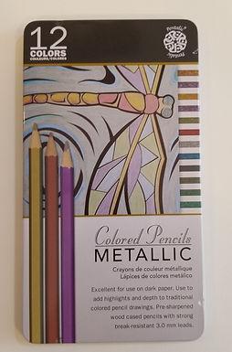 Pentalic 12 Metallic Coloured Pencils