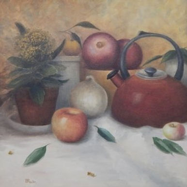 Still Life with Red Kettle by Tatiana Roulin