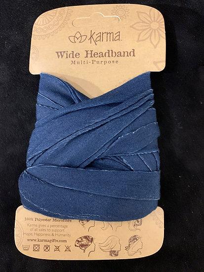 Karma Wide Headband - Navy