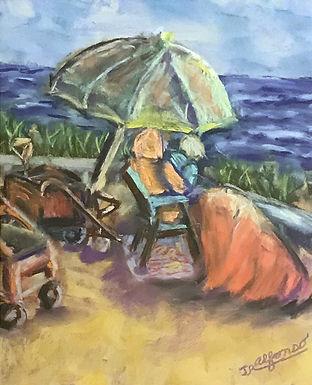 Labor Day - Salisbury Beach by Joyce Alfonso
