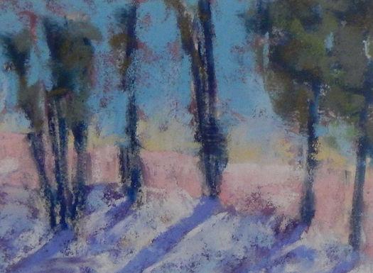Snow Trees - Dawn by Jill Johnson