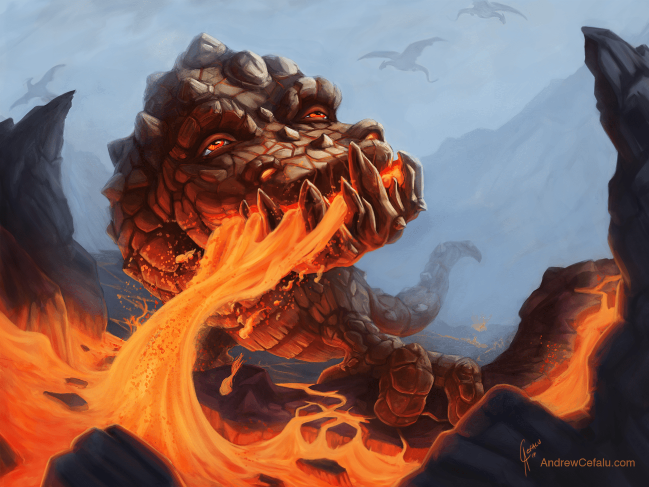 Peter the Lava Dragon by Andrew