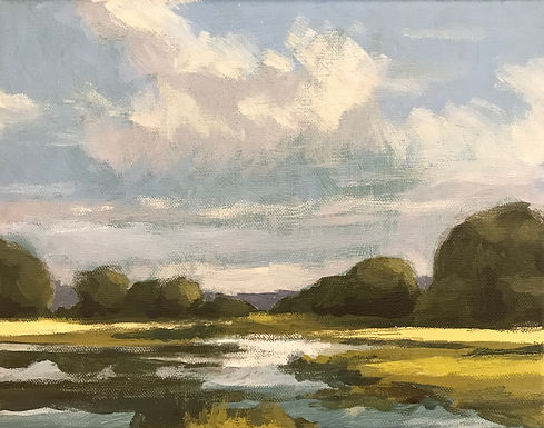 River Valley Landscape Series 8 by Bob Collins