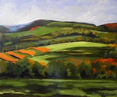 Autumn Fields by Elizabeth Ricketson