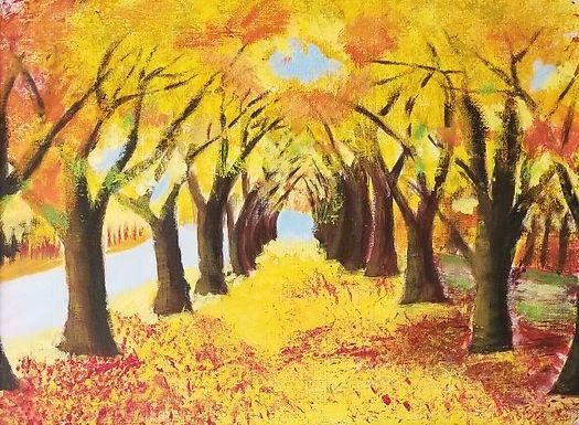 Autumn Trees by Yuvashree Kannan