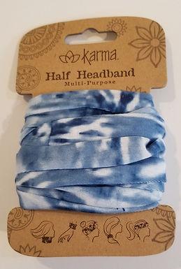 Karma Half Headband - Blue Tye Dye
