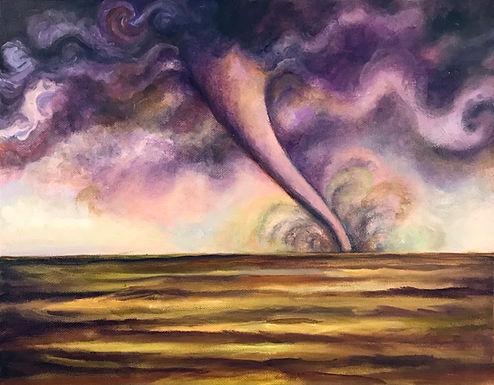 Purple Sky Tornado by Sue Carlin