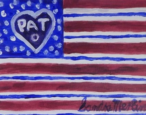 Betsy Ross American Ribbon Flag by Sandra Merlini