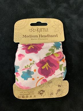 Karma Half Headband - Pink Floral