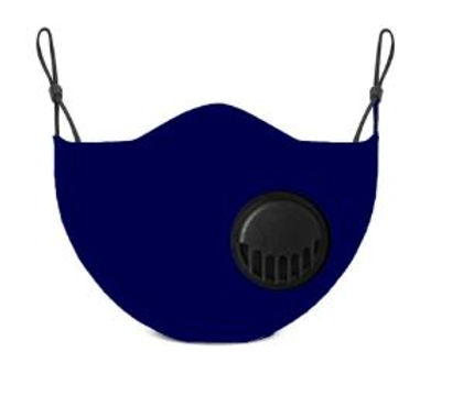 Navy Adult Face Mask With Two Carbon Filters