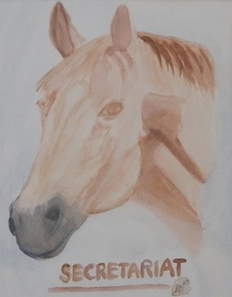 "Secretariat ""Triple Crown Winner"" by Sandra Merlini"
