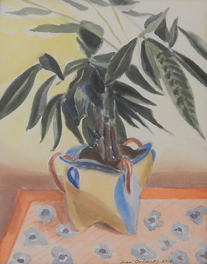 Clay Pot & Plant by Ivan Orlinsky