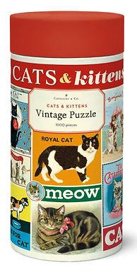 Cavallini & Co Vintage Cats 1000 pc Puzzle