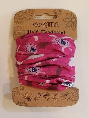 Karma Half Headband - Pink Poppy