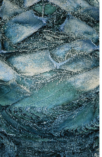 Mosaic in Blue by Linda McLatchie
