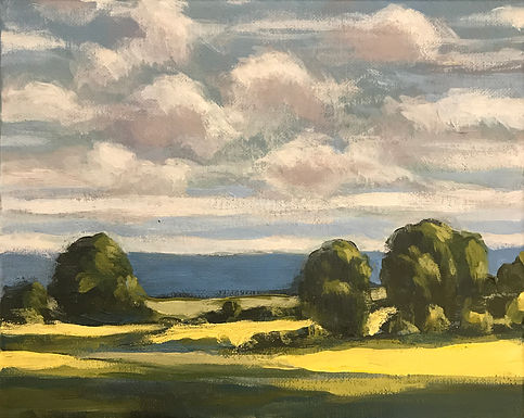 River Valley Landscape Series 6 by Bob Collins