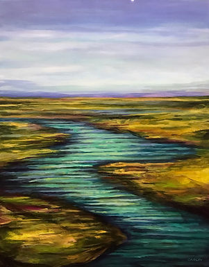 Marsh Late Afternoon by Sue Carlin