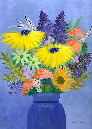 Blue Bouquet by Maryann Amodeo