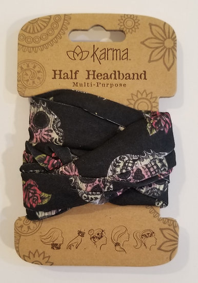 Karma Half Headband - Sugar Skull