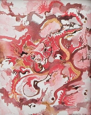 Crouching Tiger Hidder Dragon by Maryann Amodeo
