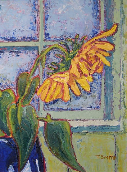Sunflower in Window by Terri Smith
