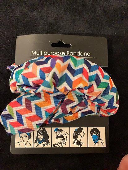 Multipurpose Headband Colorful Geometry