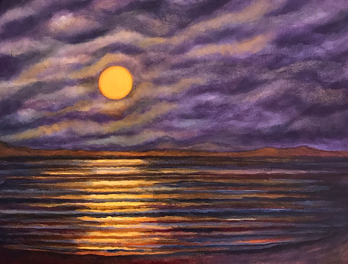 Full Moon Over the Bay by Sue Carlin