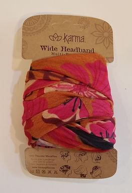 Karma Wide Headband - Red Floral