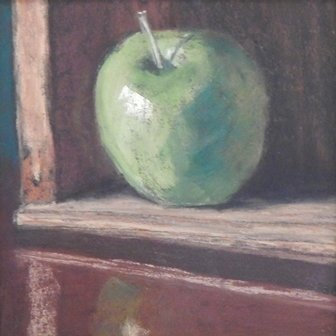 Lone Green Apple by Tracy Sharakan