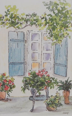 Blue Shutters by Cathy Manwaring
