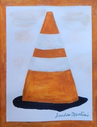 Road Cone or Witch's Hat by Sandra Merlini