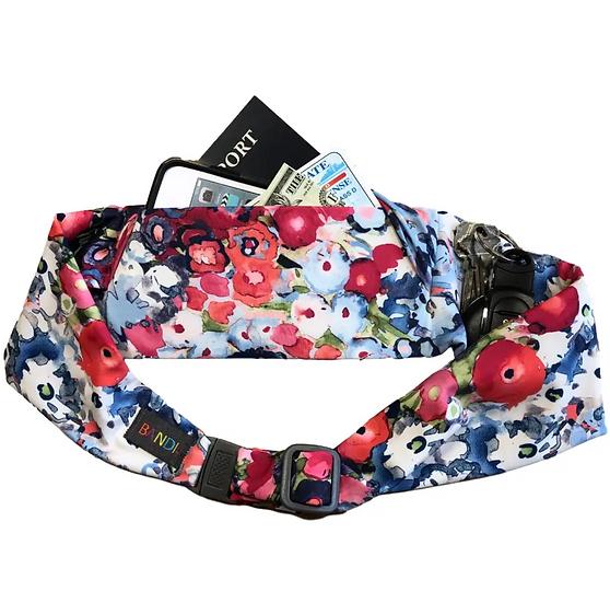 Large pocket belt, Poppies by BANDI wear