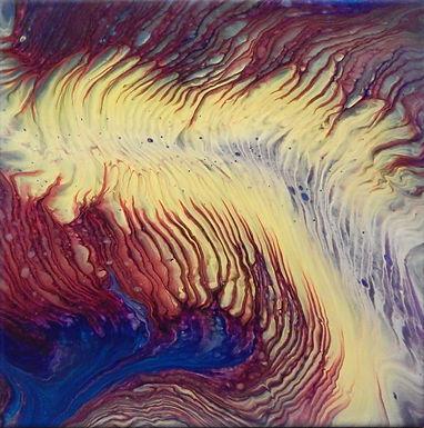 Paint Pour #28 by Jane Yates