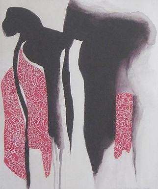 Scarlet Hues at Dusk by Junco Norton