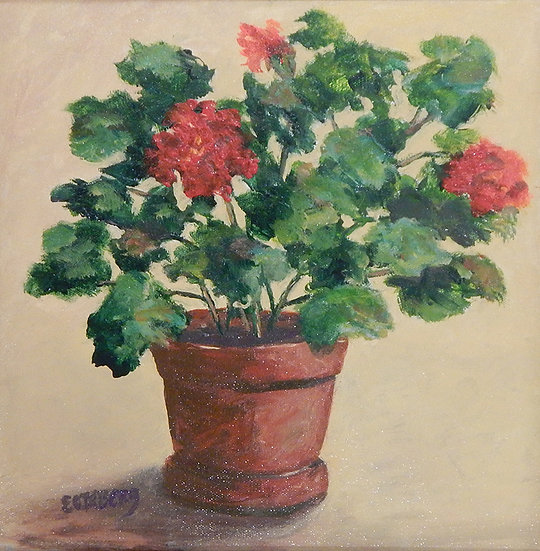 Pot: Geraniums by Gail Eckberg