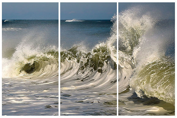 Crashing (Tryptich) by Roberta Anslow