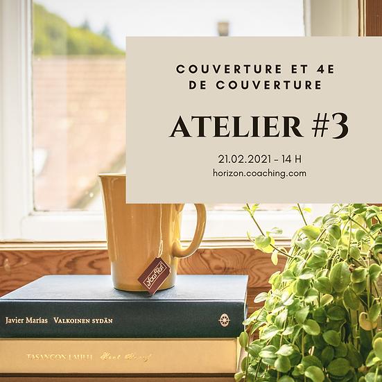 Atelier 3 : Couverture et 4e de couverture